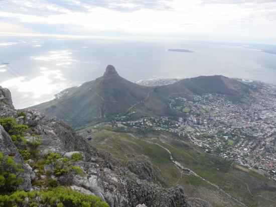 looking down at lion s head from table mountain robben island in rh tripadvisor ie