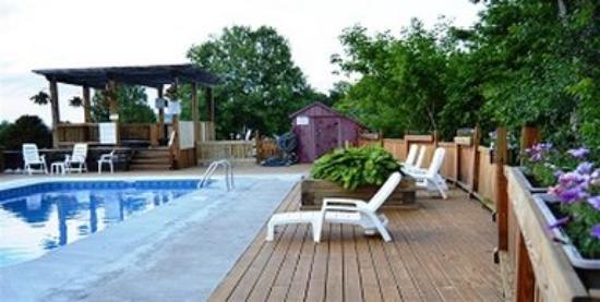 Barre, VT: Small Flowersaround Pool