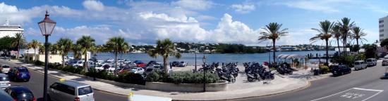 Hamilton, Bermuda: The view from Brown & Company's patio.