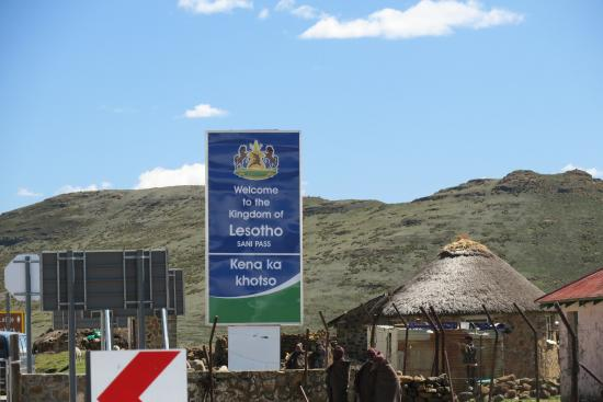 Sani Pass, Lesoto: Crossing the border from South Africa in to Lesotho.