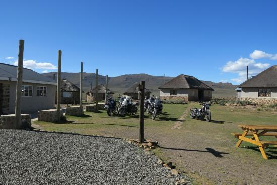 Sani Pass, Lesoto: Photo taken toward the guest rooms at San Mountain Lodge.