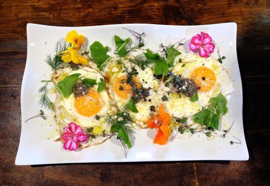 El Sauzal, España: Huevos trufados