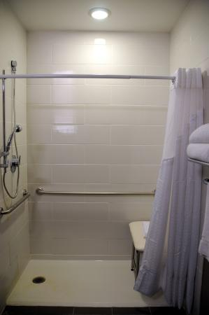 Bonnyville, Canada: Accessible Guestroom Roll-in Shower