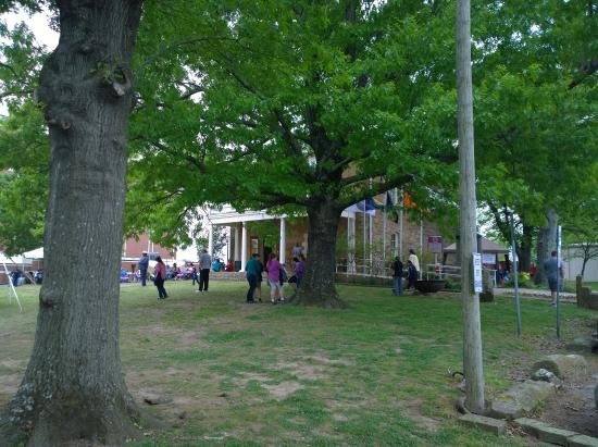 Muskogee, OK: View of Five Civilized Tribes Museum.