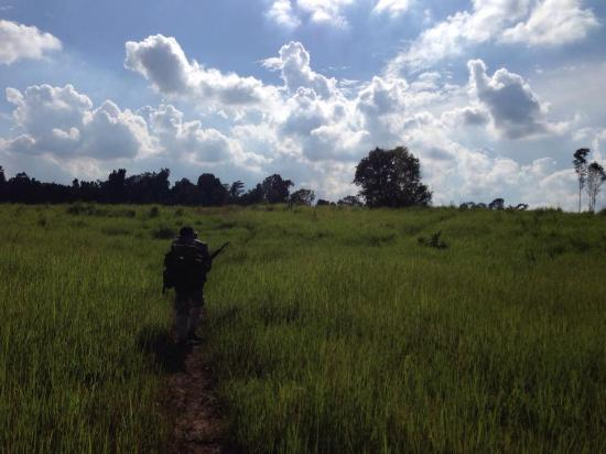 Khao Yai National Park, تايلاند: crossing to our camp spot