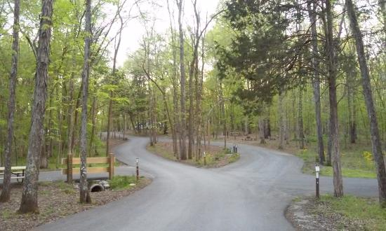 Chapel Hill, TN: Entrance to campground at Henry Horton State Park