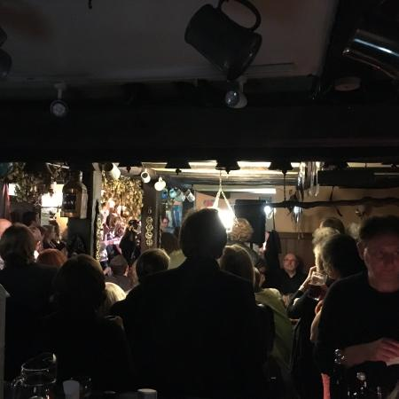 Pendoggett, UK: Open mic at the Cornish arms