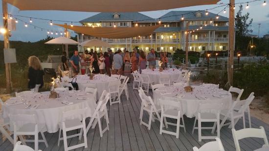 Beach House Turks Caicos Rehearsal Dinner On The Deck