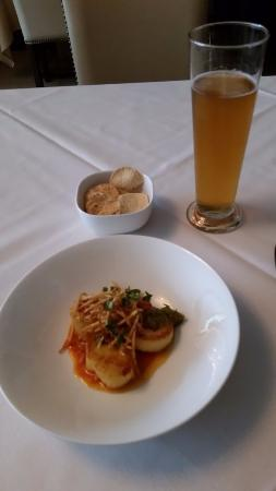 Tulsi : My beer and scallops