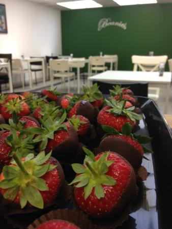Beanies: Strawberries dipped in chocolate