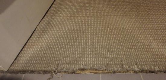 Quay West Suites Sydney: Tattered carpet