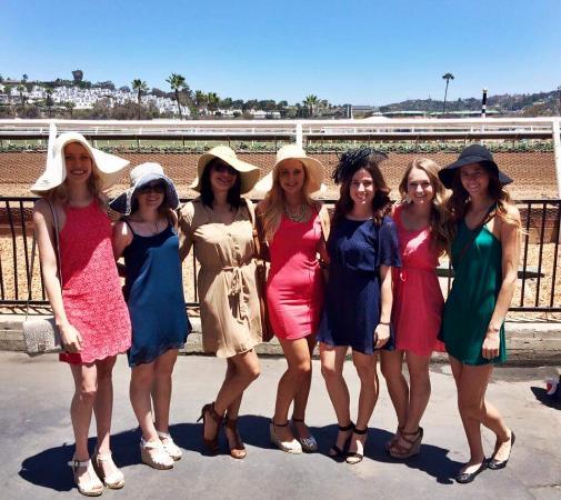 Del Mar, CA: Hats and the Track