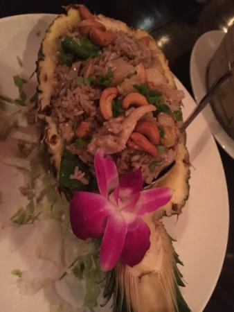 Typhoon Asian Bistro: Pineapple rice very yummy!