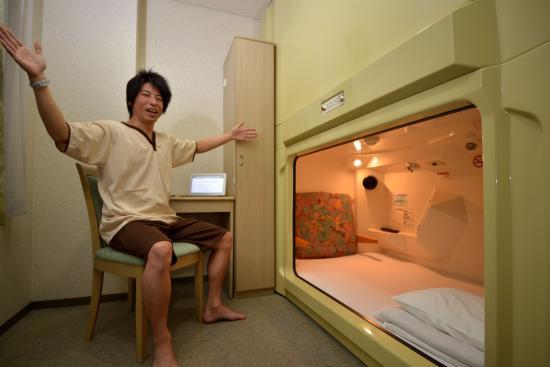 Grand Sauna Shinsaibashi: 個室カプセル