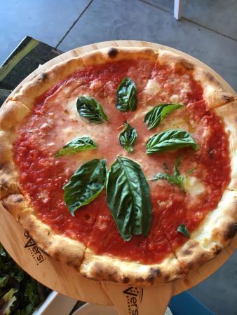 Cranston, RI: Bufalina pizza. It's almost too pretty to eat. (almost...)