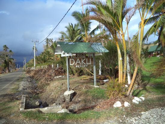 Daku Resort: The front of the resort