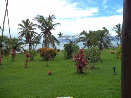 Daku Resort: View from my bure in day time