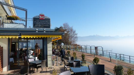 Chexbres, Schweiz: the restaurant