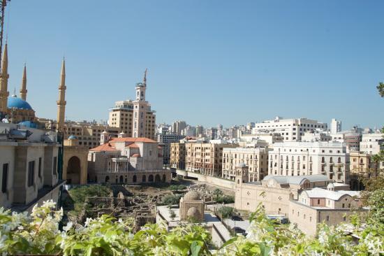 Le Gray Beirut: view from top floor veranda