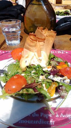 Chalet TONIA : goats cheese salad