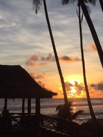 Upolu, Samoa: Sunset view from the bar
