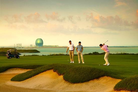 Golfing in Abu Dhabi