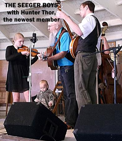 Cameron, WI: Dad and the kids and now Hunter Thor, the youngest member.
