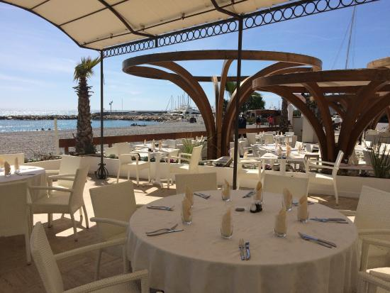restaurant la playa picture of restaurant la playa villeneuve loubet tripadvisor. Black Bedroom Furniture Sets. Home Design Ideas
