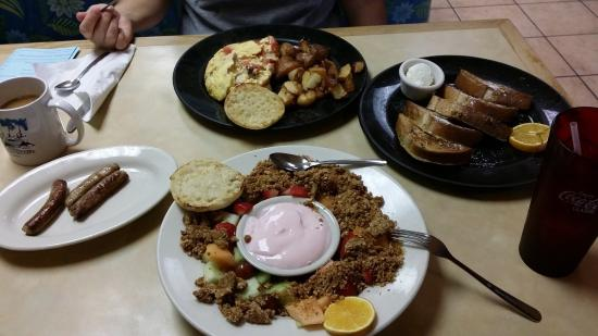 Blue Dolphin Cafe: The BEST breakfast I had on vacation. I though, let me get something small. Fruit and granola. H