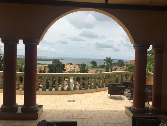 Lake Victoria Serena Golf Resort & Spa: Uitzicht vanuit restaurant