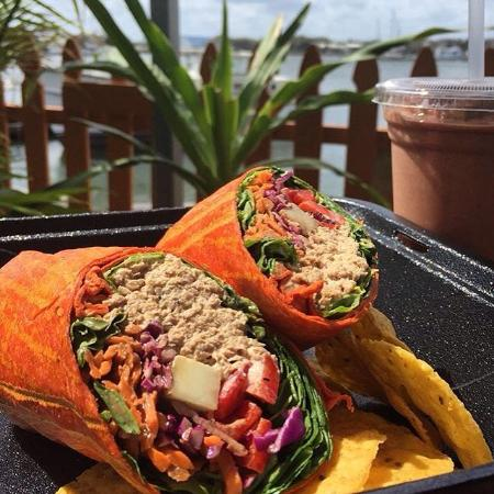 Crave Food Truck: Super Tuna Wrap & Mighty Mayan Smoothie