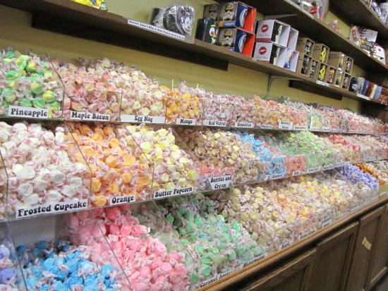 Sweeet!: Large selection of taffy.