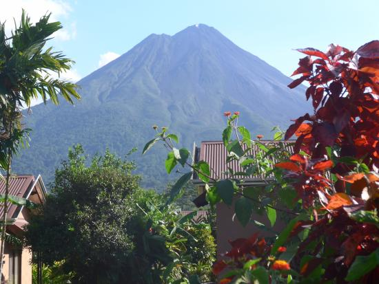 arenal volcano on a rare cloudless day picture of arenal springs rh en tripadvisor com hk