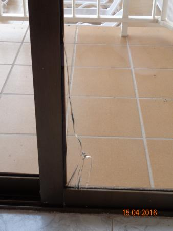 Broken Glass In Patio Door Picture Of Hotel Caribbean Bay El