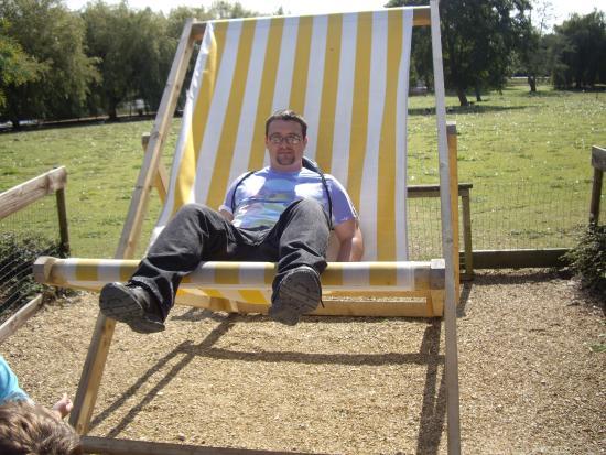 Seaview, UK: large deck chair