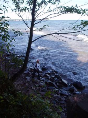 Lake Superior at Big Bay Lighthouse