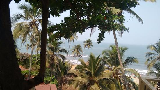 Anjuna, India: View from restaurant