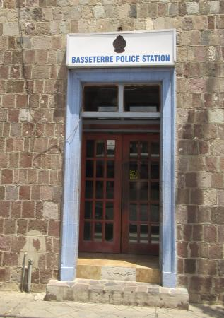 Welcome Tours St. Kitts And Nevis: Front Door Of The Cop Shop In Basseterre