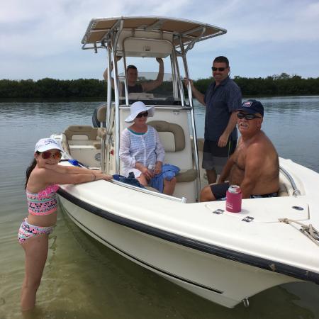 Placida, Φλόριντα: Relaxing at a sandbar