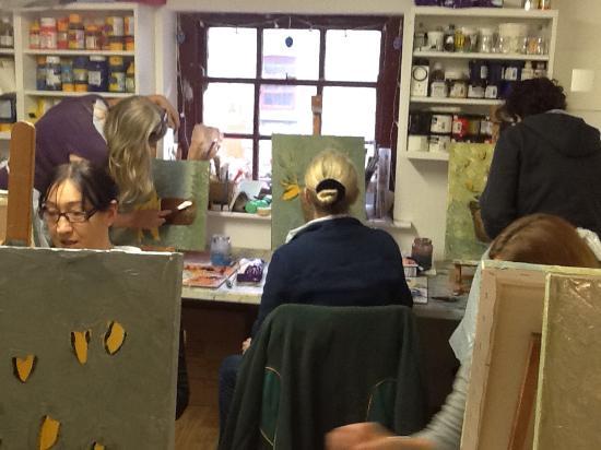 Karen Wilson Art: Palette knife workshop