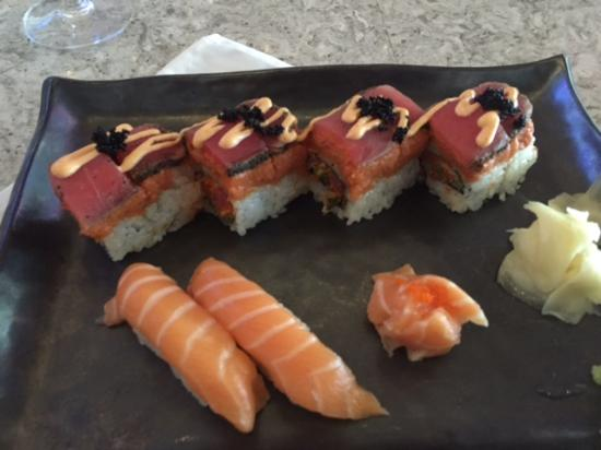 Union Prime Steak and Sushi: crazy tuna roll and salmon sushi