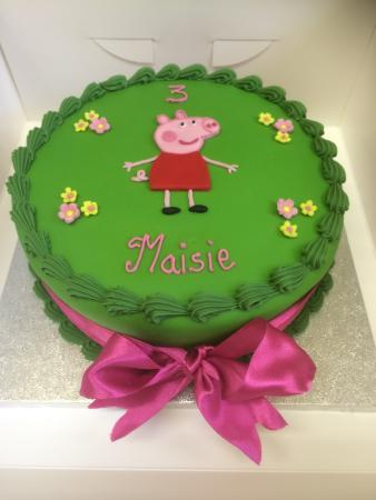Tremendous Peppa Pig Birthday Cake Picture Of Baytree Tea Room And Funny Birthday Cards Online Overcheapnameinfo