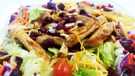 Ramseys Steak and Grill Delivery: Chicken Cranberry Almond Salad!