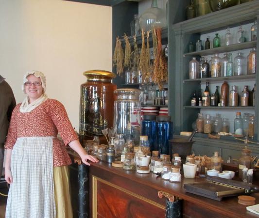 Hugh Mercer Apothecary Shop: In Hugh Mercer's Apothecary- Fredericksburg, VA