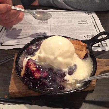 Claremore, OK: Blueberry Cobbler a la mode