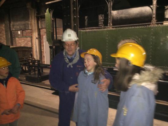 Blegny, Bélgica: Il y en a même qui ont du charbon sur le nez