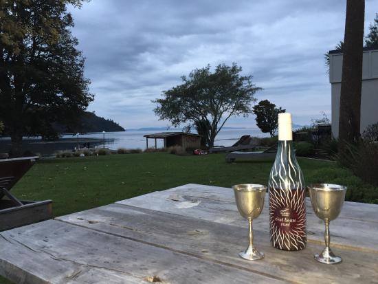 Tokaanu, Nova Zelândia: Idyllic and peaceful. Perfect spot to relax at start of a short break. Already feels like a week