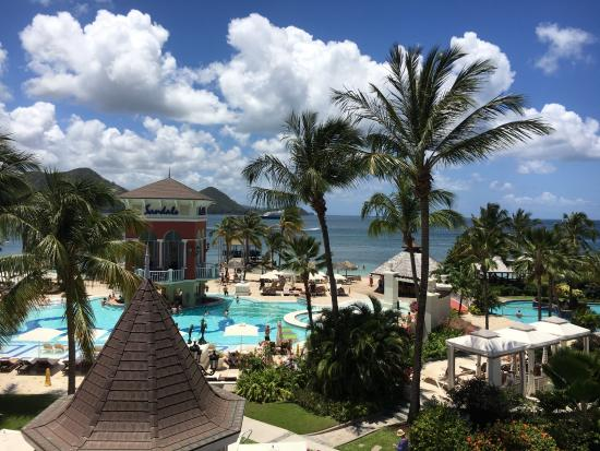view of resort from beach view rooms picture of sandals grande st rh tripadvisor com