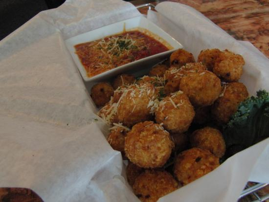 Soda Springs, ID: One of our house favorites, deep fried risotto balls served with marinara sauce