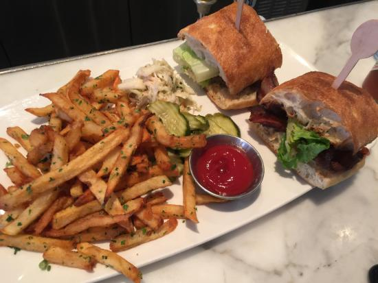 Blue Crab BLT and tasty fries